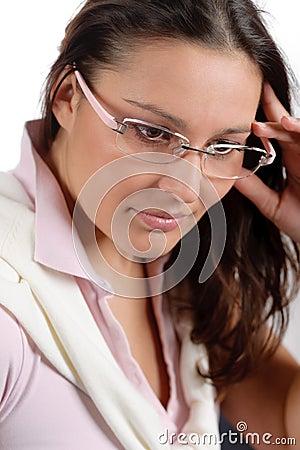 Designer glasses - trendy woman fashion