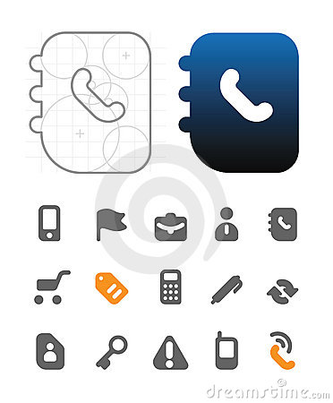 Designer s icons for business