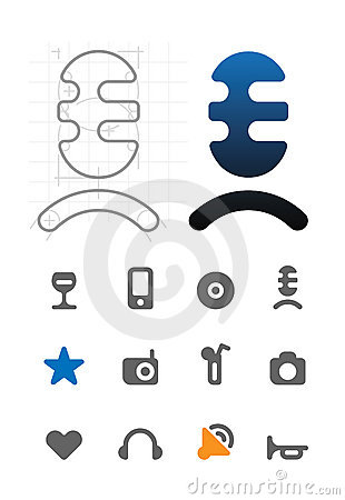 Designer s icons for leisure