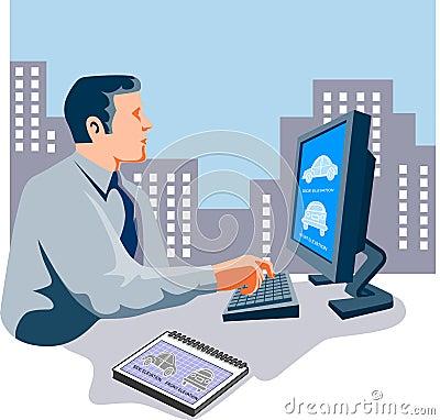 Designer working on computer