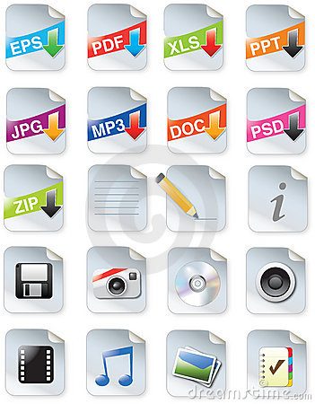 Free Designers Toolkit- Web 2.0 Icons Royalty Free Stock Images - 13172819