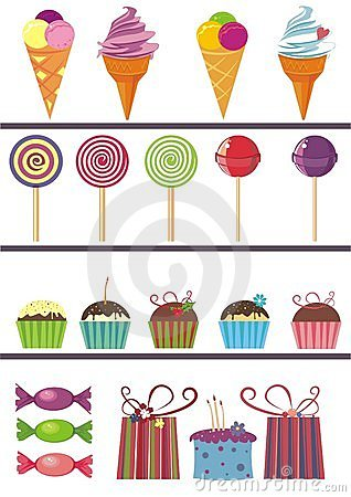 Desing elements of sweets
