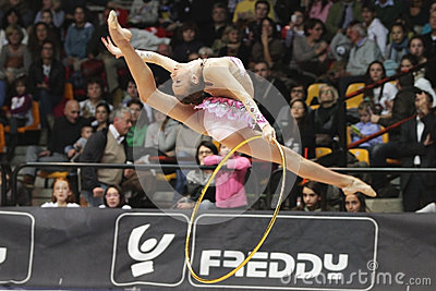 Mazur Viktoriia hoop Editorial Photo