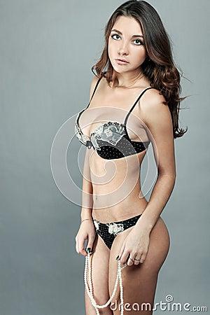 Desirable erotic girl
