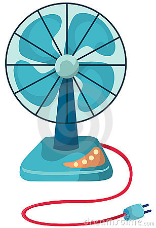 Desk fan Vector Illustration