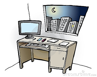 Desk at Night