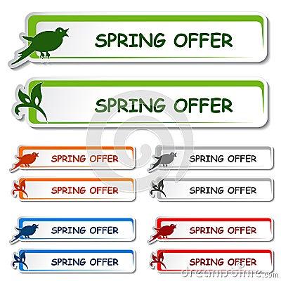Deskowa etykietki zawiadomienia oferty wiosna
