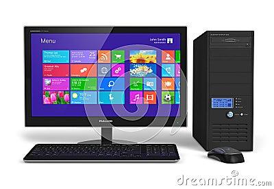 Desktop computer with touchscreen interface