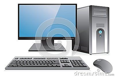 Desktop computer workstation