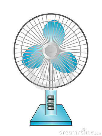 A desktop fan