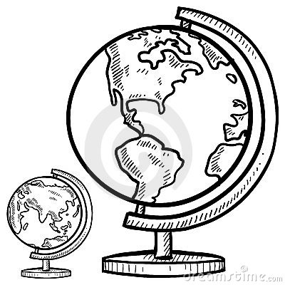 Desktop globes sketch