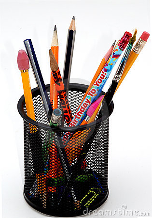 Free Desktop Pencil Holder Stock Photography - 1378892
