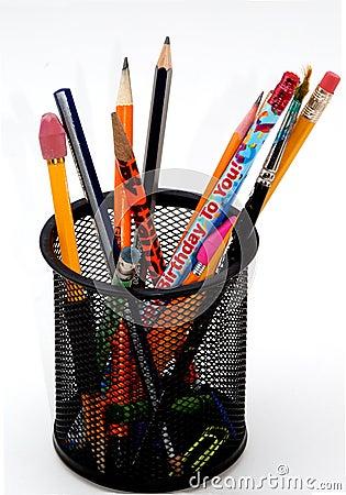 Desktop pencil holder