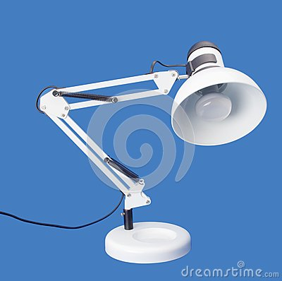 Desktop white lamp
