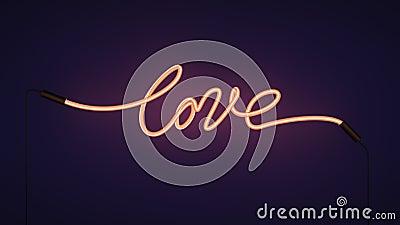 Desligar claro do amor de néon do Valentim sobre