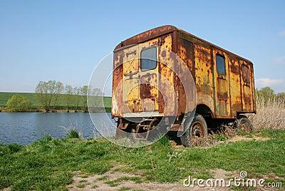 Desolate caravan