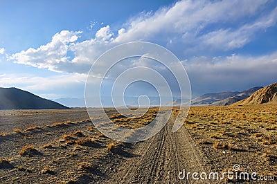 Desolate mountain road