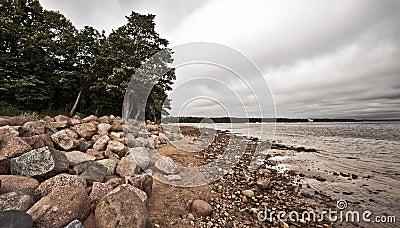 Desolate Rocky Beach
