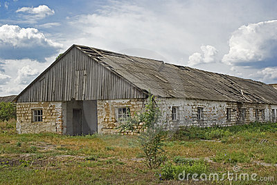 Desolated barn
