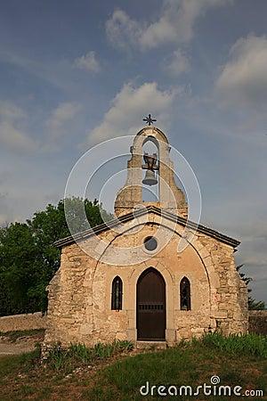 Desolated roadside chapel in France
