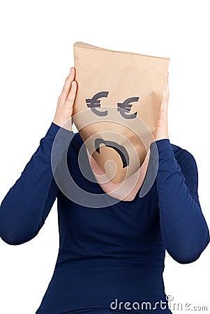 A desperate euro paper bag