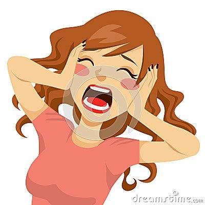 Free Desperate Screaming Woman Stock Photo - 34027890