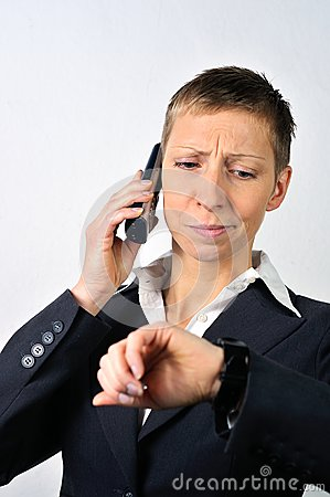 Desperate woman with a phone