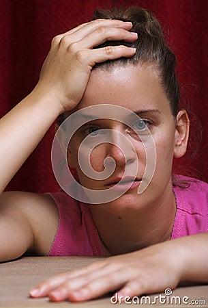 Desperate woman stressconcept