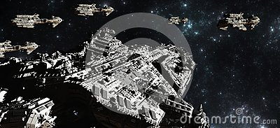 Despliegue de la flota de la batalla del espacio