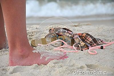 Despreocupado en la playa