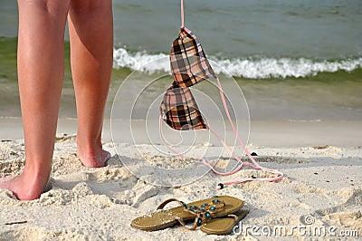 Despreocupado na praia