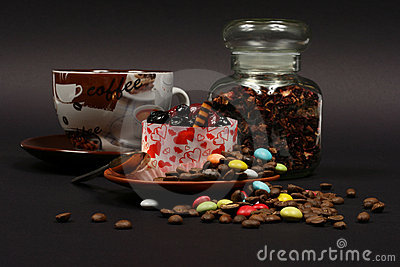 Dessert on a black background 2