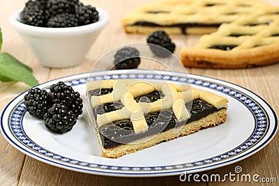 Dessert blackberry pie