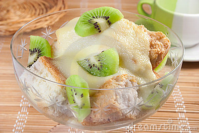 Dessert in bowl
