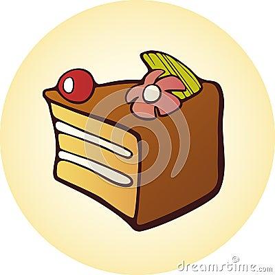 Dessert cake button