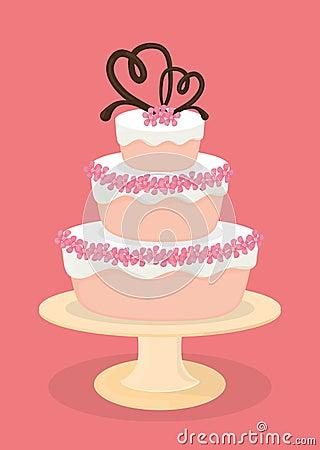 Cake Dessert Design Studio : Dessert Cake Design. Stock Vector - Image: 58705474