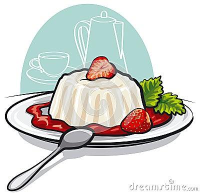 Dessert with cream