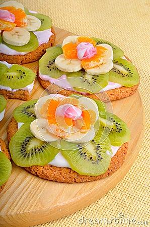 dessert de fruit avec les fruits exotiques photo stock image 52011381
