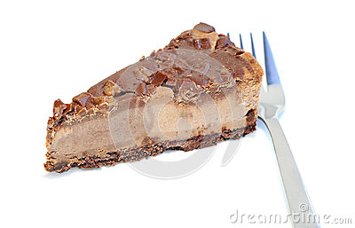 Dessert - Delicious cheesecake with chocolate