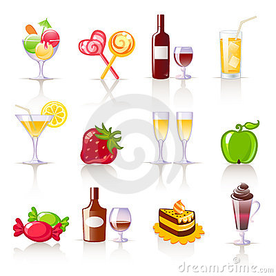 Dessert and drinks icons