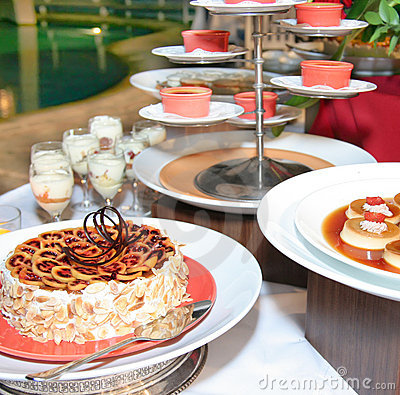 Dessert Food at buffet