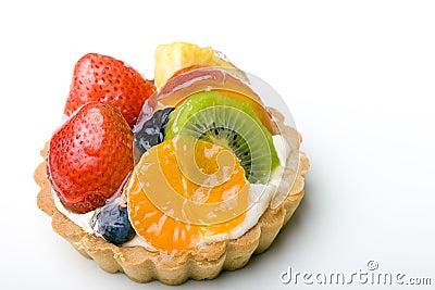 Dessert fruit tart pastry with whipped cream