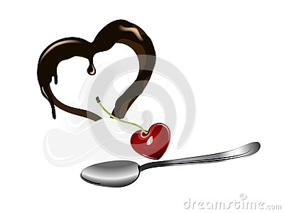 Dessert with heart
