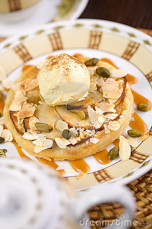 Dessert with ice-cream