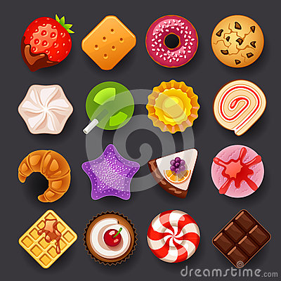 Free Dessert Icon Set Royalty Free Stock Photo - 36377275