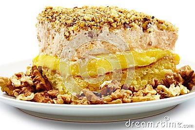 Dessert à la crème fouetté