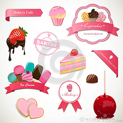Dessert Labels and Elements