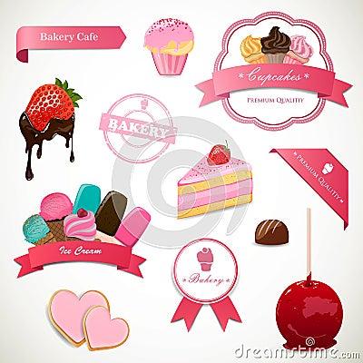 Dessert Labels and Elements