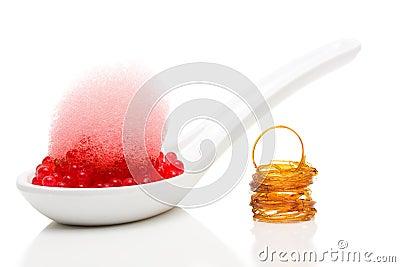 Dessert moléculaire de gastronomie