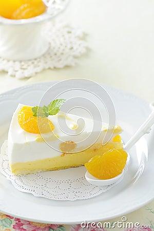 Free Dessert ,orange Cake Royalty Free Stock Photo - 24708265